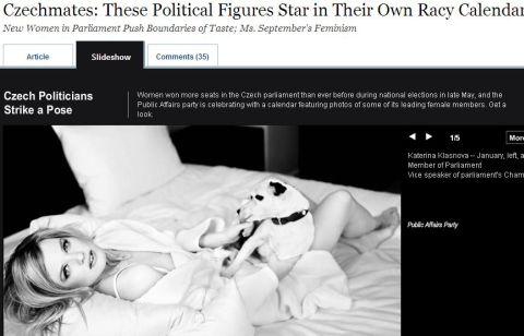 Krásky z VV v americkém tisku. Politický sexismus v USA zajímá