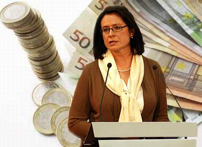 Němcová nechce euro, nebude platit Řekům