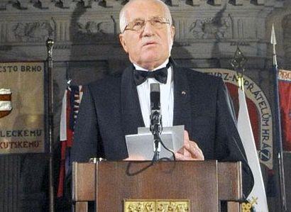 Klaus v projevu: Světovláda nás připraví o svobodu a občanství