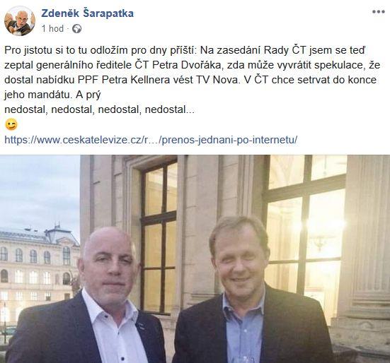 Zdeněk Šarapatka o Petru Dvořákovi