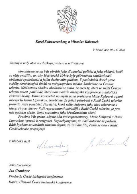 Dopis určený biskupům