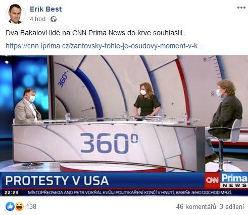 Erik Best promlouvá