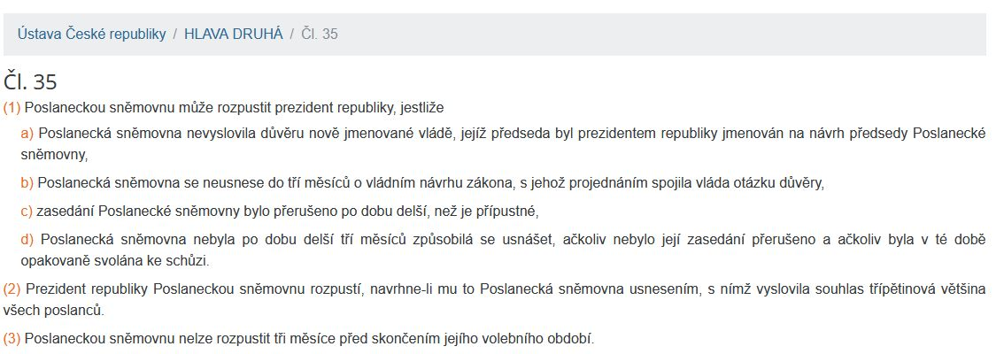 Co říká Ústava ČR