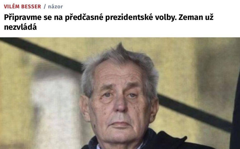 Vilém Besser o Miloši Zemanovi