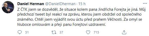 Jindřich Forejt nezemřel