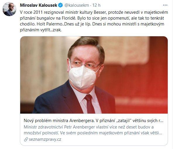 Miroslav Kalousek udeřil