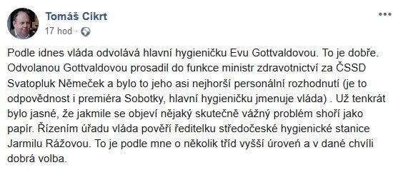 Tomáš Cikrt je spokojen