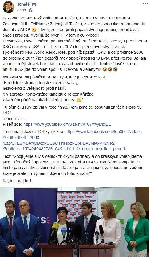 Tomáš Tyl o Pavlu Teličkovi