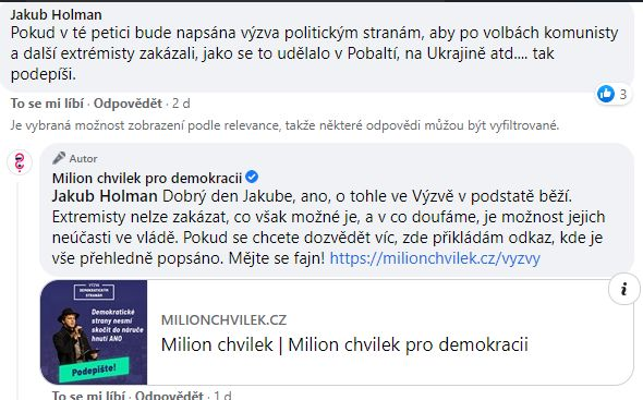 Milion chvilek pro demokracii