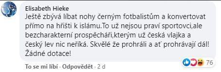 Reakce na pokleknutí fotbalistů