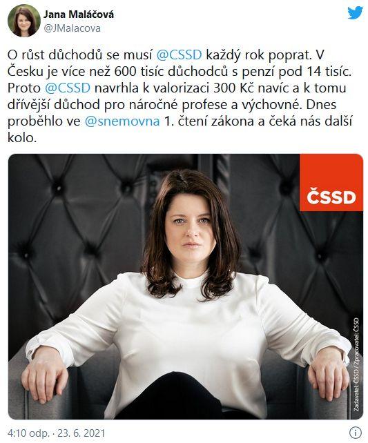 přísná Jana Maláčová