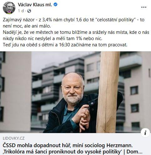 Václav Klaus promlouvá