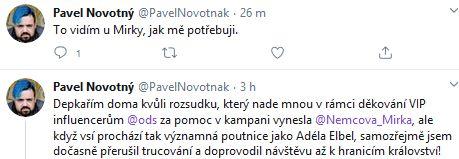Pavel Novotný se zlobí