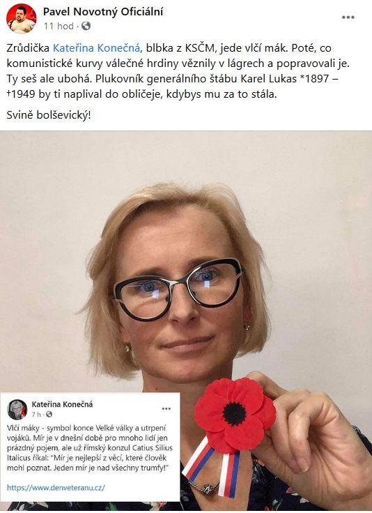 Pavel Novotný se pustil do komunistů