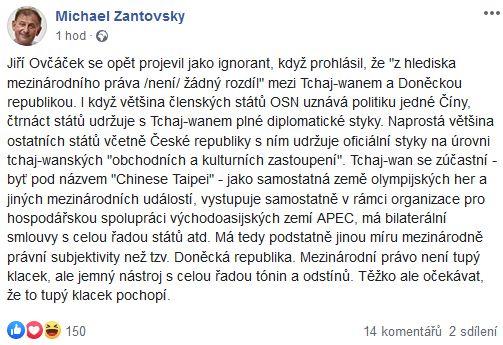 Michael Žantovský promlouvá