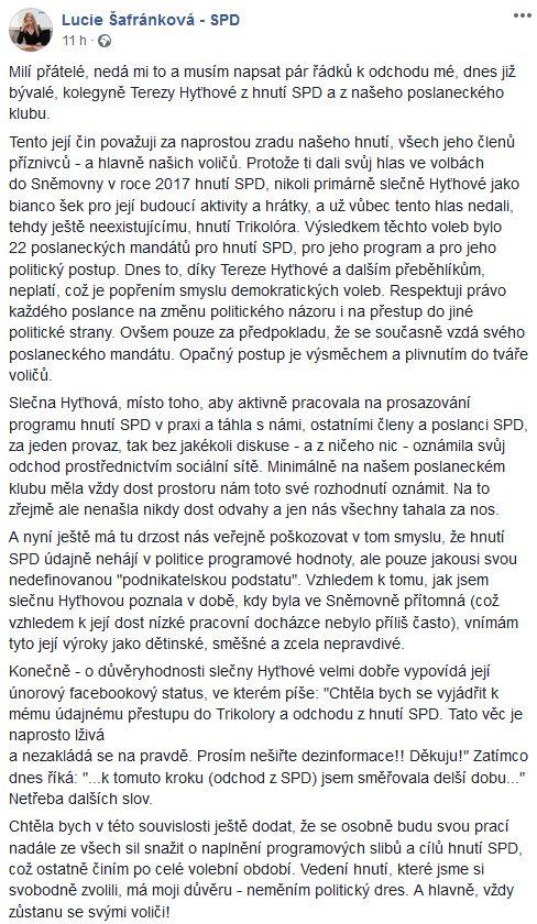 Kritika Terezy Hyťhové