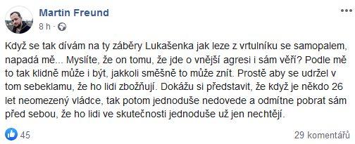 Martin Freund o Lukašenkovi