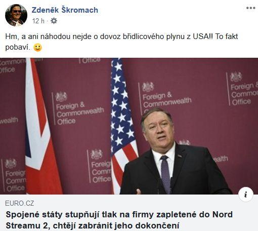 Zdeněk Škromach napsal pár slov k americké návštěvě v Senátu