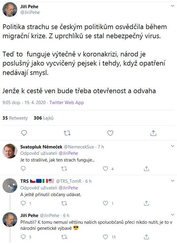 Jiří Pehe o českém udavačství