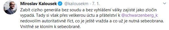 Miroslav Kalousek se postavil proti Karlu Schwarzenbergovi