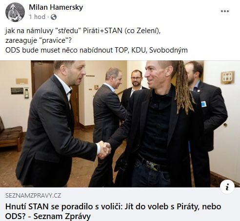 Co teď udělá ODS, ptá se Milan Hamerský