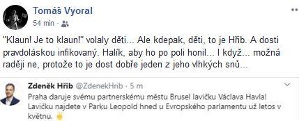 Tomáš Vyoral se pokouší o humor