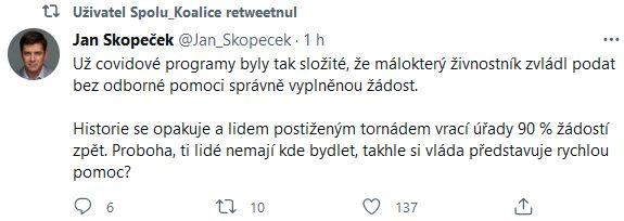 Jan Skopeček se zlobí