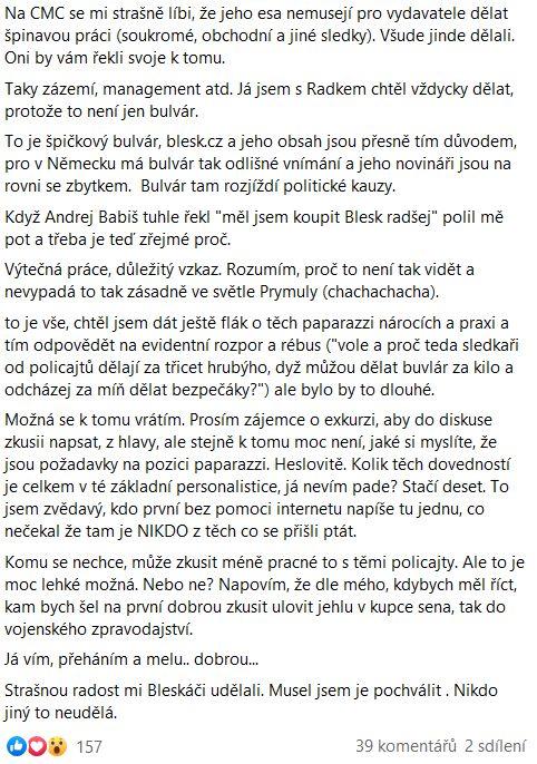 Pavel Novotný promlouvá
