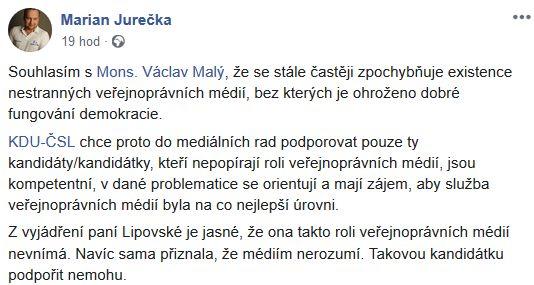 Marian Jurečka o Haně Lipovské