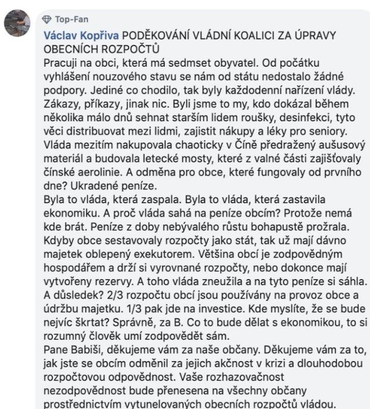 Vysvědčení pro vládu Andreje Babiše