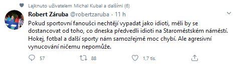 Robert Záruba promluvil o idiotech