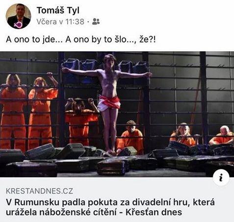 Právník Tomáš Tyl učinil poznámku