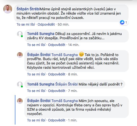Diskuze mezi místostarostou Prahy 3 a opozičním zastupitelem