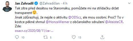 Jan Zahradil půjde protestovat