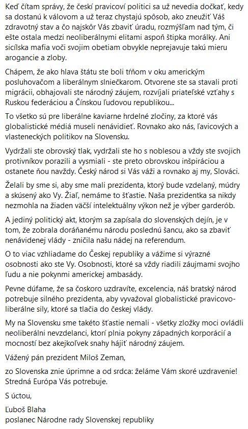 Slovenský opoziční radikálně levicový poslanec Ľuboš Blaha promlouvá