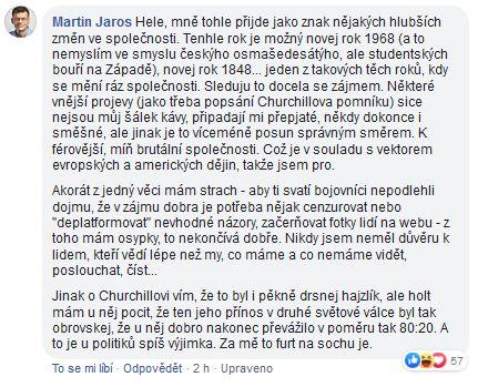 Martin Jaroš o Churchillovi