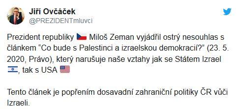 Prezident Miloš Zeman ostře nesouhlasí s Tomášem Petříčkem