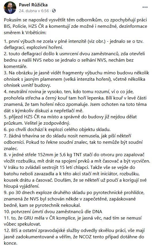 Poslanec Pavel Růžička promlouvá