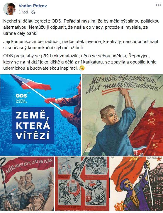 Vadim Petrov poslal vzkaz ODS