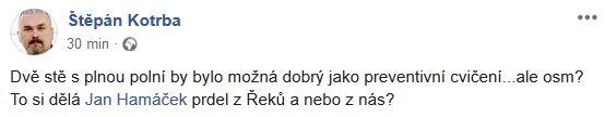 Štěpán Kotrba reaguje na slova Jana Hamáčka