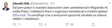 Zdeněk Hřib informuje