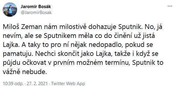 Jaromír Bosák promlouvá