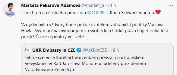 Karel Schwarzenberg obdržel Řád Jaroslava Moudrého