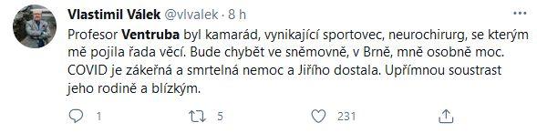 Jiří Ventruba zemřel