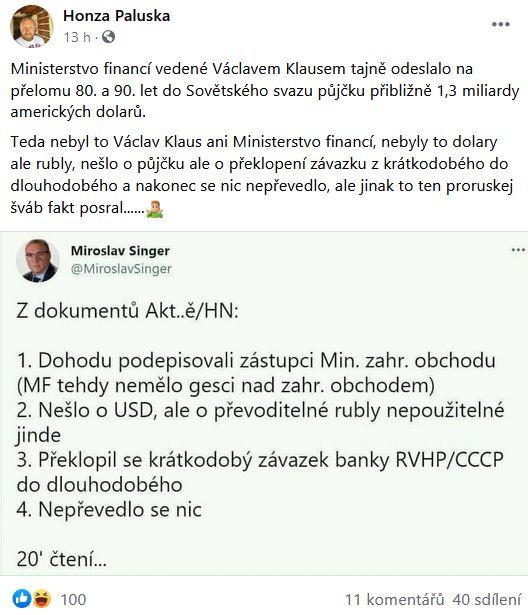 Miroslav Singer se zlobí
