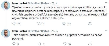 Ivan Bartoš promlouvá
