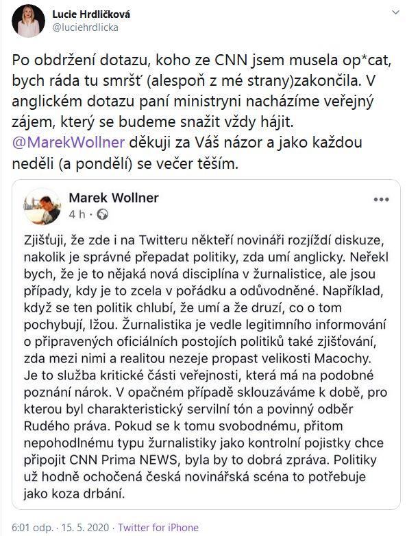 Jak ministryně Schillerová utíkala před novináři