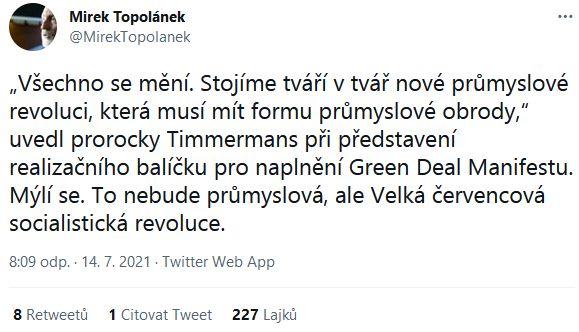 Mirek Topolánek promlouvá