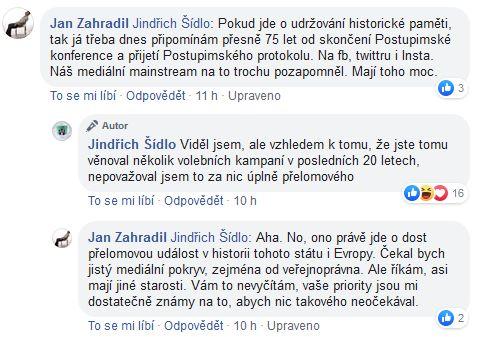 Jan Zahradil promlouvá
