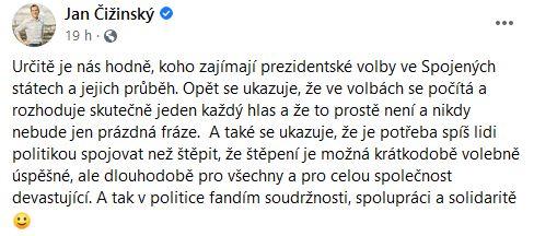 Jan Čižinský k volbám v USA